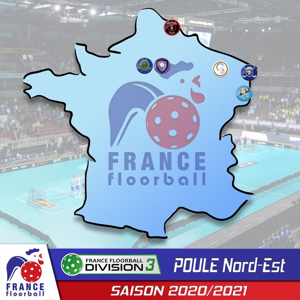 Championnat d3 adulte floorball poule est 2020 2021